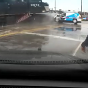 Video: Man Gets Out of Van Seconds Before It's Hit by a Train