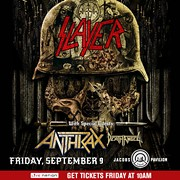 Slayer/Anthrax/Death Angel Tour Coming to Jacobs Pavilion at Nautica