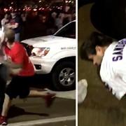 VIDEO: Indians Fan Knocks Out Cubs Fan in Post-Game Street Fight