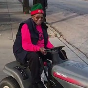 Video: Here's a Clevelander Riding a Lawnmower to the Polls This Morning