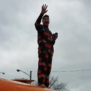 Video: Browns Fan Wearing a Onesie Jumps Off School Bus After Loss