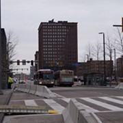 Public Square Opens to Buses with New, Ugly Safety Features