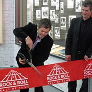 Rock Hall Celebrates Opening of Rolling Stone Magazine Exhibit with Ribbon Cutting Ceremony and Party