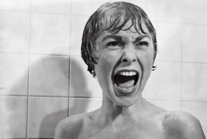 Janet Leigh in Alfred Hitchcock's Psycho (1960).