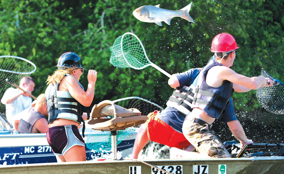 """The """"Redneck Fishing Tournament"""" on the Illinois River - PHOTO BY JUDD MCCULLUM"""