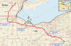 The NEXUS pipeline route - FERC