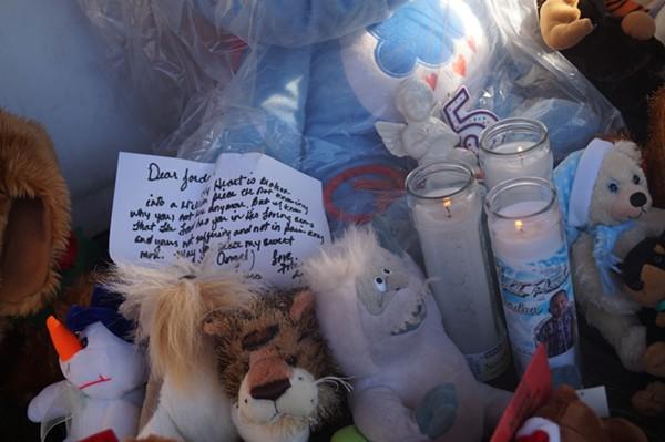 A memorial on for Jordan Rodriguez. - SAM ALLARD / SCENE