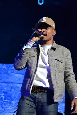 Chance the Rapper performing at Blossom. - JACOB DESMIT