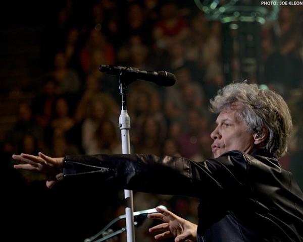 Bon Jovi performing at the Q. - JOE KLEON