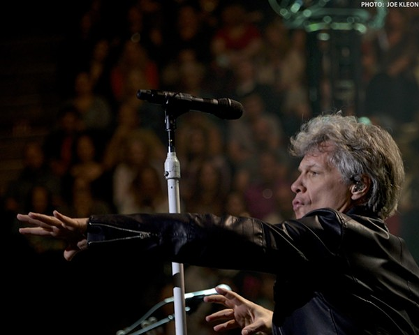 Bon Jovi performing at the Q. - JOE KLEON