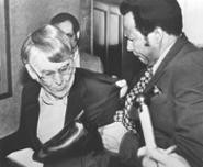 Forbes tosses journalist Roldo Bartimole out of a now infamous special - council meeting in 1981 - CLEVELAND PRESS COLLECTION, CLEVELAND STATE