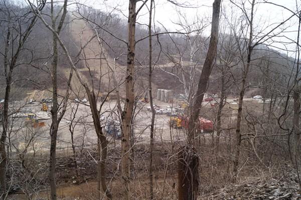 "XTO Energy's Schnegg Well site / Ohio ""Environmental Devastation Tour,"" 3/9/2018. - SAM ALLARD / SCENE"