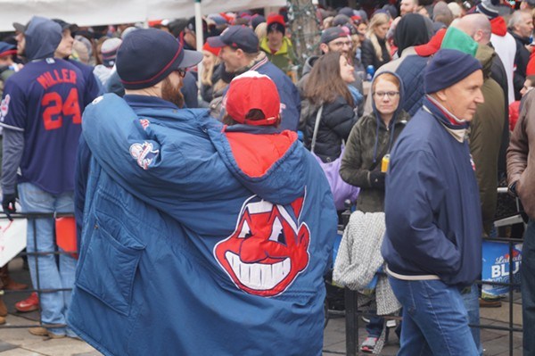 """This is not the """"Rally to Save Chief Wahoo."""" - SAM ALLARD / SCENE"""
