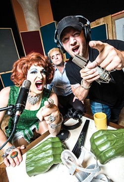 Veranda L'Ni with the Tit for Tat podcast crew - PHOTO BY KEN BLAZE