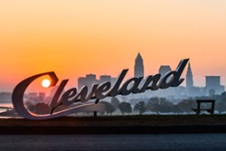 Cleveland Script Sign - ERIK DROST FLICKR CC