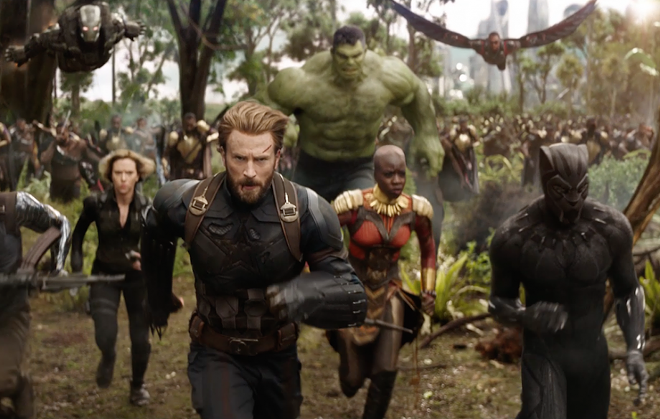 Black Widow, Captain America, The Incredible Hulk, Okoye and Black Panther lead the charge.