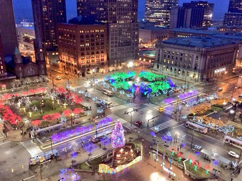 PHOTO COURTESY OF TWITTER, TERMINAL TOWER CLE