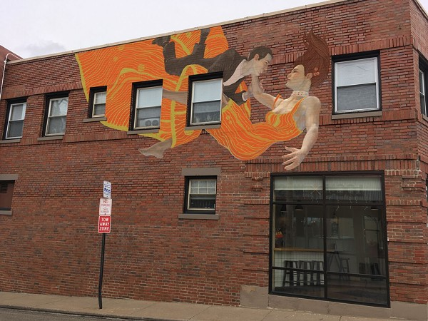 A mockup of Matthew Sweeney's mural at Banter - GSAD MURAL PRESS RELEASE