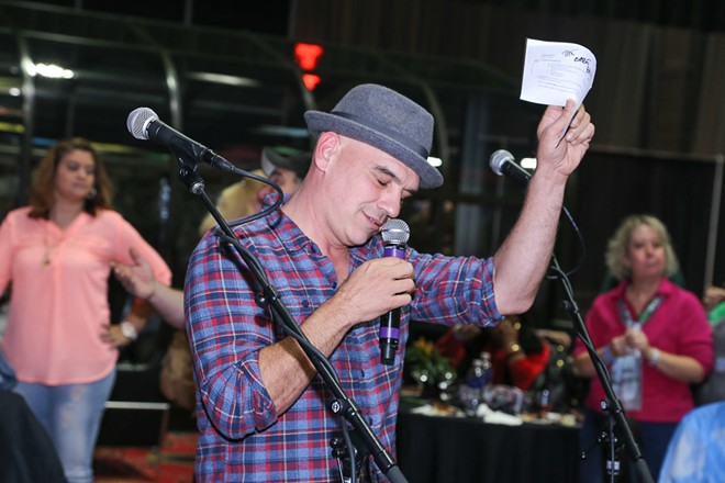 Michael Symon speaking at 2016's Fabulous Food Show. - EMANUEL WALLACE PHOTO