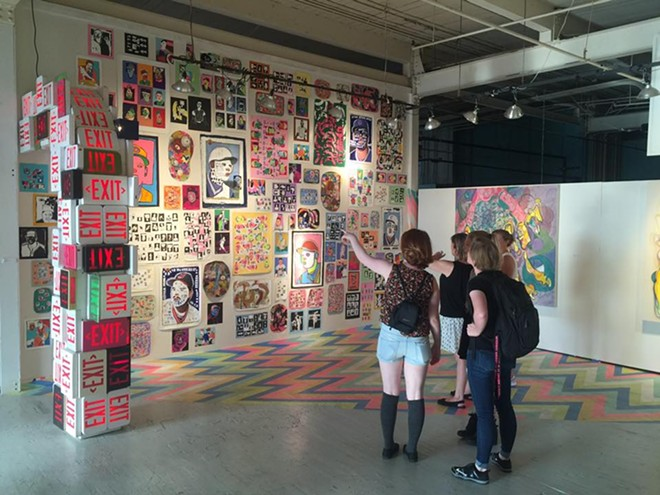 """Visitors enjoy the 2016 """"Turn Up"""" Exhibition - POPEYE GALLERY"""