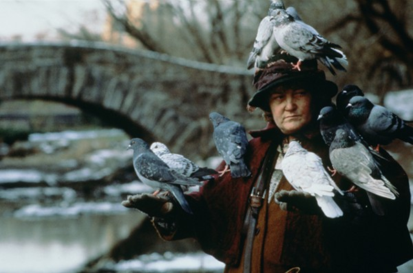 The 'Pigeon Lady' from HOME ALONE 2 (Not the actual woman housing these 600 birds) - COURTESY OF TWENTIETH CENTURY FOX HOME ENTERTAINMENT