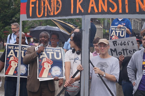 ATU President William Nix speaks at CPT rally, (7/23/2018). - SAM ALLARD / SCENE
