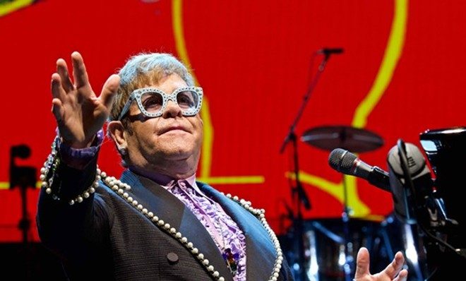 Elton John performing at the Q. - SCOTT SANDBERG