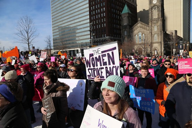 Women's March Cleveland 2018 - PHOTO BY EMANUEL WALLACE