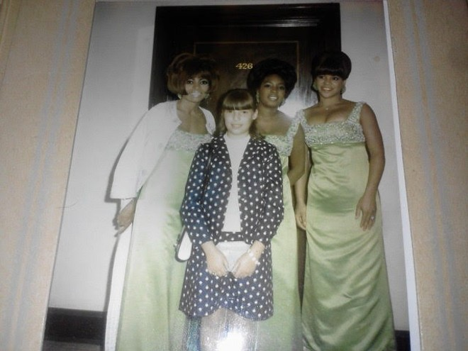 Shelley Berger Rhodes with Dianna Ross and the Supremes. - COURTESY OF AMY GLIN