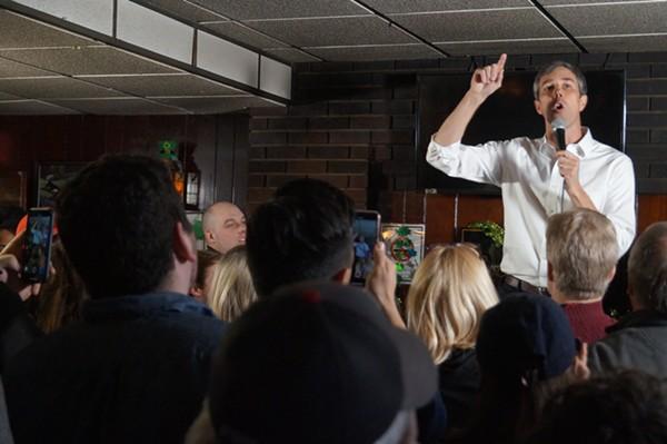 Beto O'Rourke at Gino's in Cleveland, (3/18/19). - SAM ALLARD / SCENE