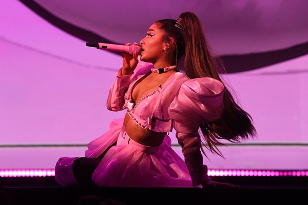 Because Ariana Grande wouldn't allow us to shoot last night's concert at the Q, we have this photo from the tour's opening night. - GETTY/KEVIN MAZUR