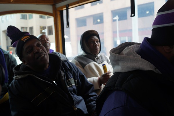 Janitors Robert Garrett and Vicki Burton talk about working at 200 Public Square. - SAM ALLARD / SCENE