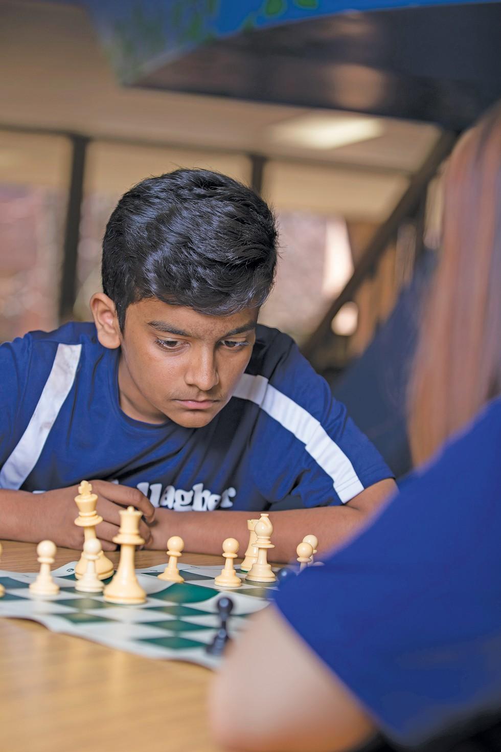 Team captain Akshar Patel at practice. - PHOTO BY KARIN MCKENNA