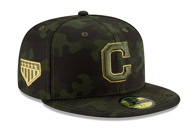 INDIANS 2019 ARMED FORCES DAY HAT, CLEVELAND INDIANS