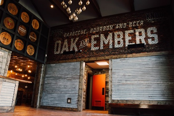 The Hudson Oak and Embers right before it opened. - PHOTO VIA DOUGLAS TRATTNER