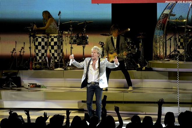 Rod Stewart performing at Blossom. - PHOTO BY JOE KLEON
