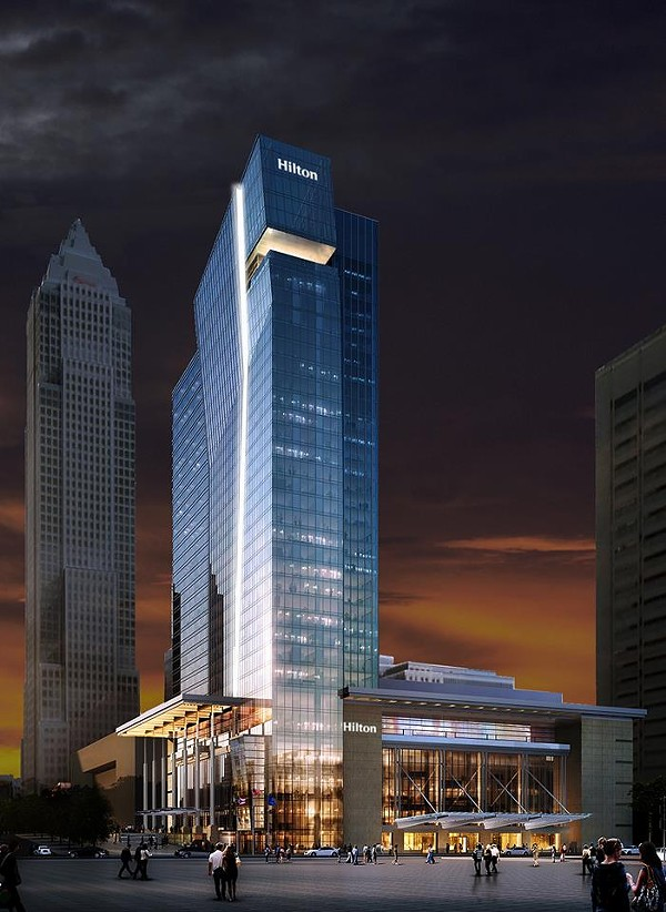 ARTIST'S RENDERING OF THE HILTON CLEVELAND DOWNTOWN HOTEL, 2013