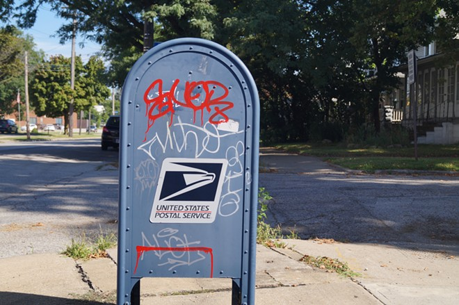 USPS Box on Cleveland's west side. - SAM ALLARD / SCENE
