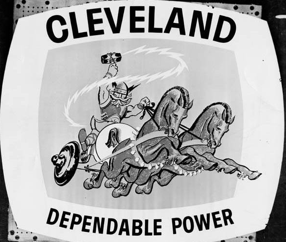 CLEVELAND MUNICIPAL LIGHT PLANT SIGN, 1962