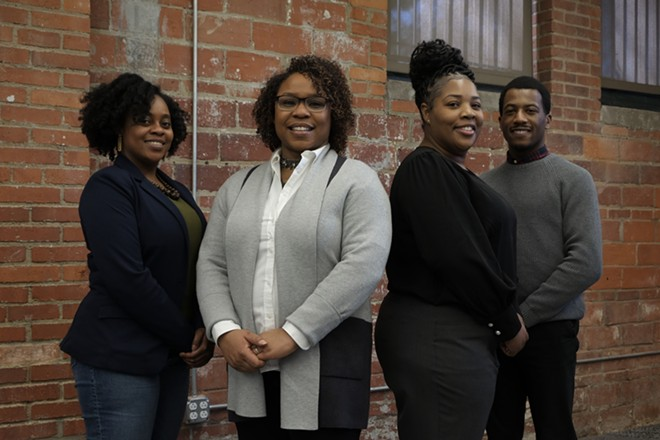 L-R: Jennifer Lumpkin, Erika Anthony, Crystal Bryant and Devonta Dickey - COURTESY CLEVELAND VOTES