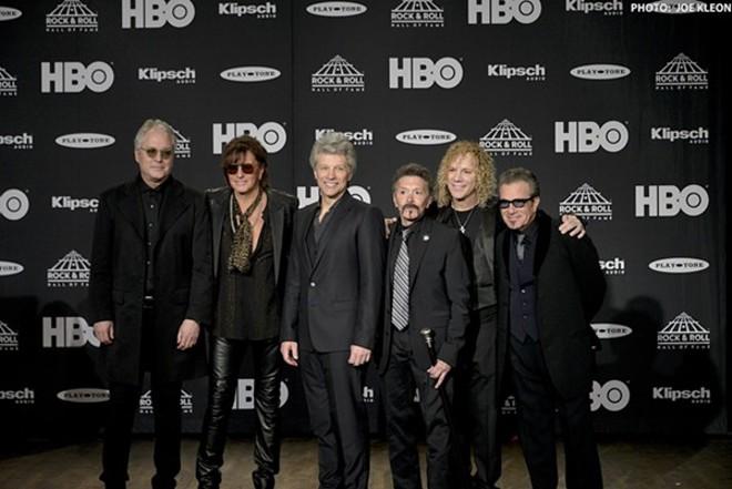 Bon Jovi at the 2018 Rock Hall Inductions. - JOE KLEON