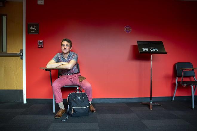 DAN EGGERS AT CSU/ PHOTO BY KARIN MCKENNA