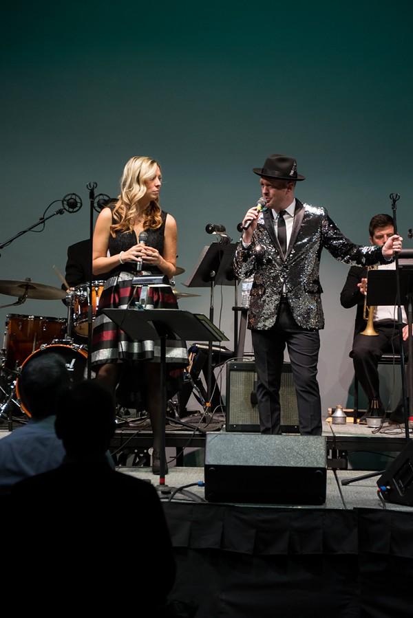 Ryan Humbert and friends performing at the 2018 Holiday Extravaganza. - AIMEE LAMBES