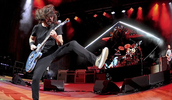 Foo Fighters performing at Blossom in 2018. - JOE KLEON