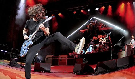 Foo Fighters performing at Blossom in 2018. - JOE KLEON