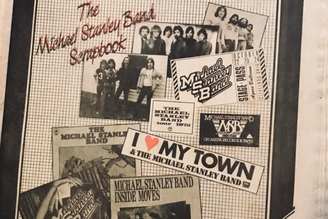A four page spread of Michael Stanley memorabilia and photos ran in the issue - 1986 COVER OF SCENE