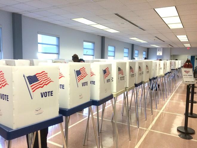 Scene archival photo of voting location - ERIC SANDY/SCENE