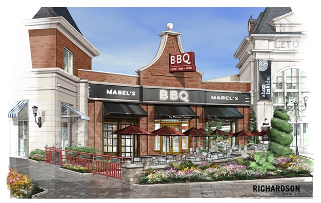 A rendering of the exterior changes at B Spot Eton Collection. - RICHARDSON DESIGN