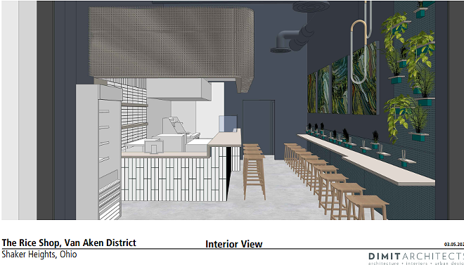 A rendering of new Rice Shop at Van Aken District. - DIMIT ARCHITECTS