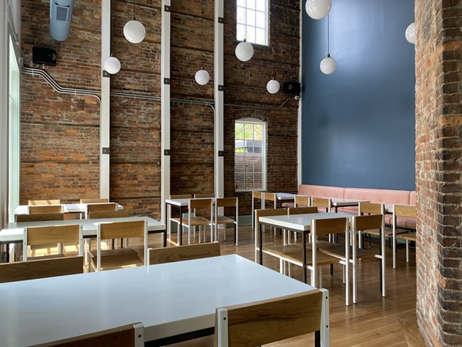 The dining room of Heart of Gold, opening soon in Ohio City. - JONAH ORYSZAK